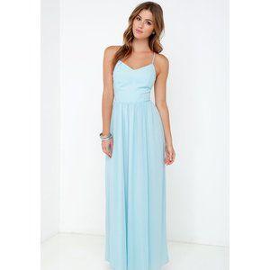 Lulus | Rooftop Icing Light Blue Maxi Dress
